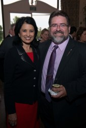 Dr. Renu Khator and Mark C. Osborne