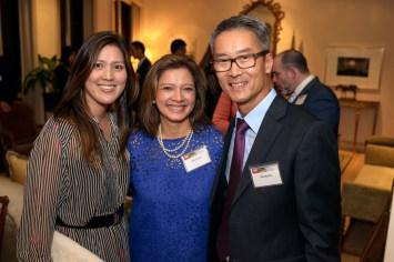 Sue Sim, Bonna Kol (Executive Director, Asia Society Texas Center), Randy Sim