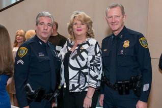 Officer James Sobota, Council Member Brenda Stardig, Chief Don McKinney