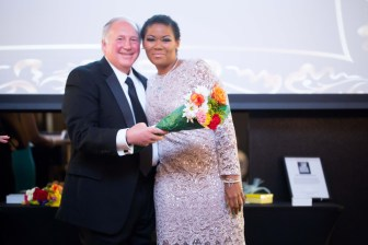 Dr. Joseph Lucci with honoree Angelisa Hood