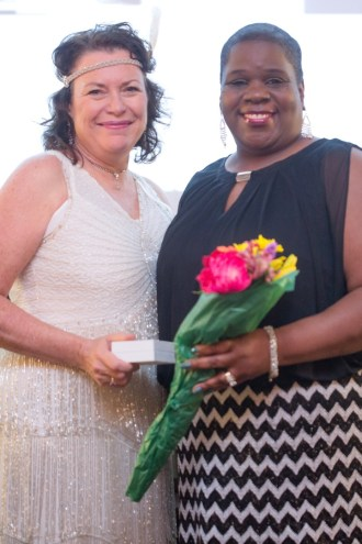Sandy Miller and honoree Tonya Childress