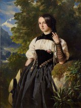 Franz X. Winterhalter, Swiss Girl from Interlaken, 1840s, oil on canvas, private collection.