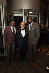 Texans Safety Andre Hal, Rudy Festari and Texans OLB Whitney Mercilus - Photo by Emile Browne