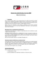 LCBS – compte-rendu du CD du 2 juin 2020