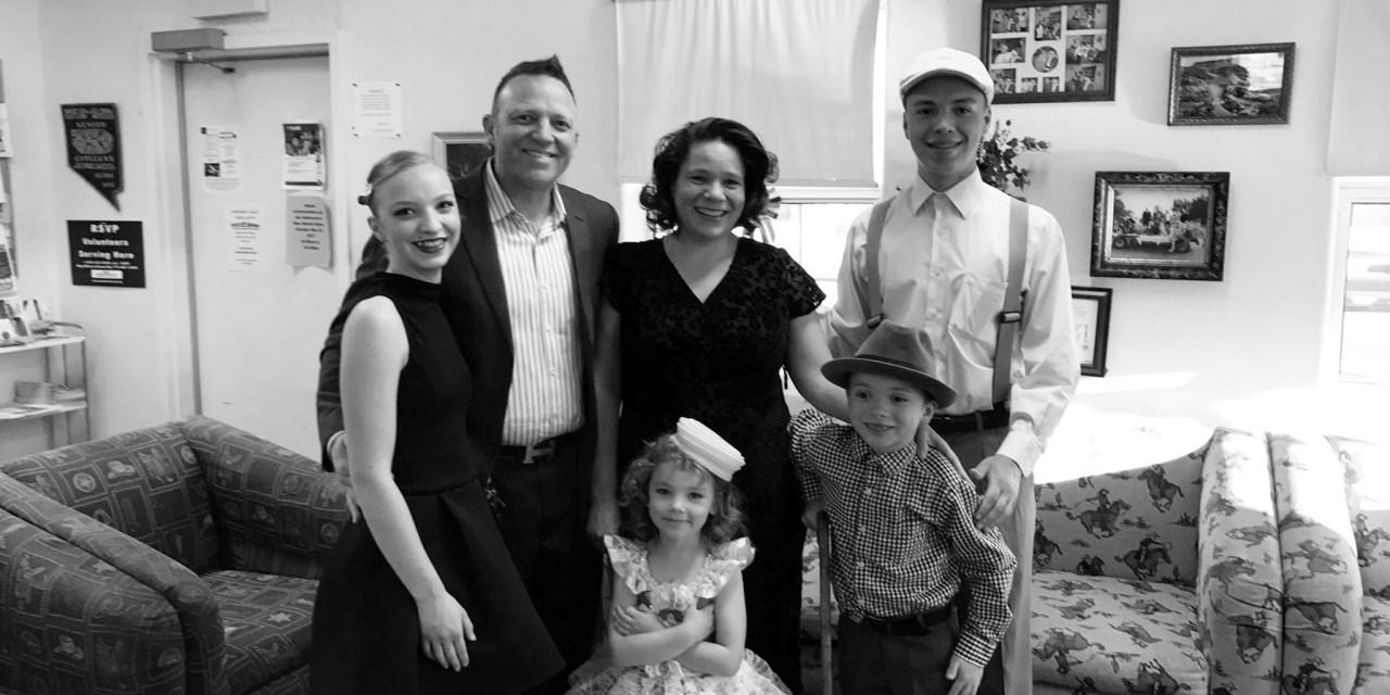Family shares talents at senior center potluck
