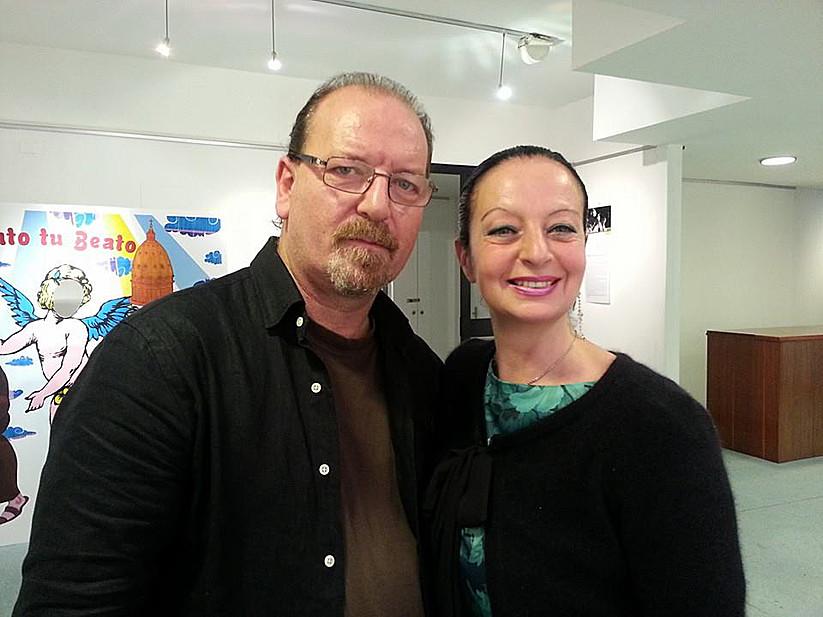 Con Flavio Oreglio