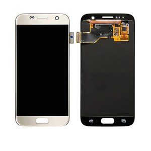 LCD Screen Replacement without frame for Samsung Galaxy S7 - Gold
