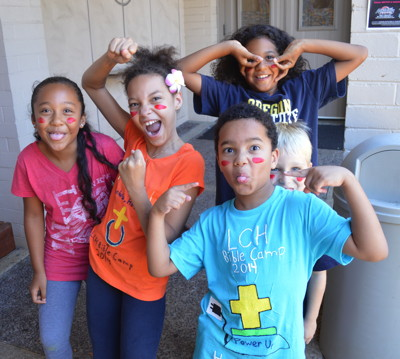 Some of the children who enjoyed themselves at Day Camp