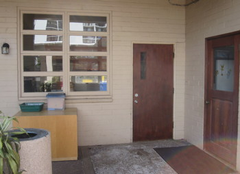 Entrance to the Kindergarten and Pre-K classroom