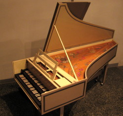 The Cammack harpsichord in the LCH Nave.