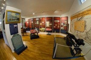 Image of museum collection items on display