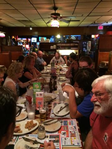 The crew of Lois McClure at Russo's Grill.