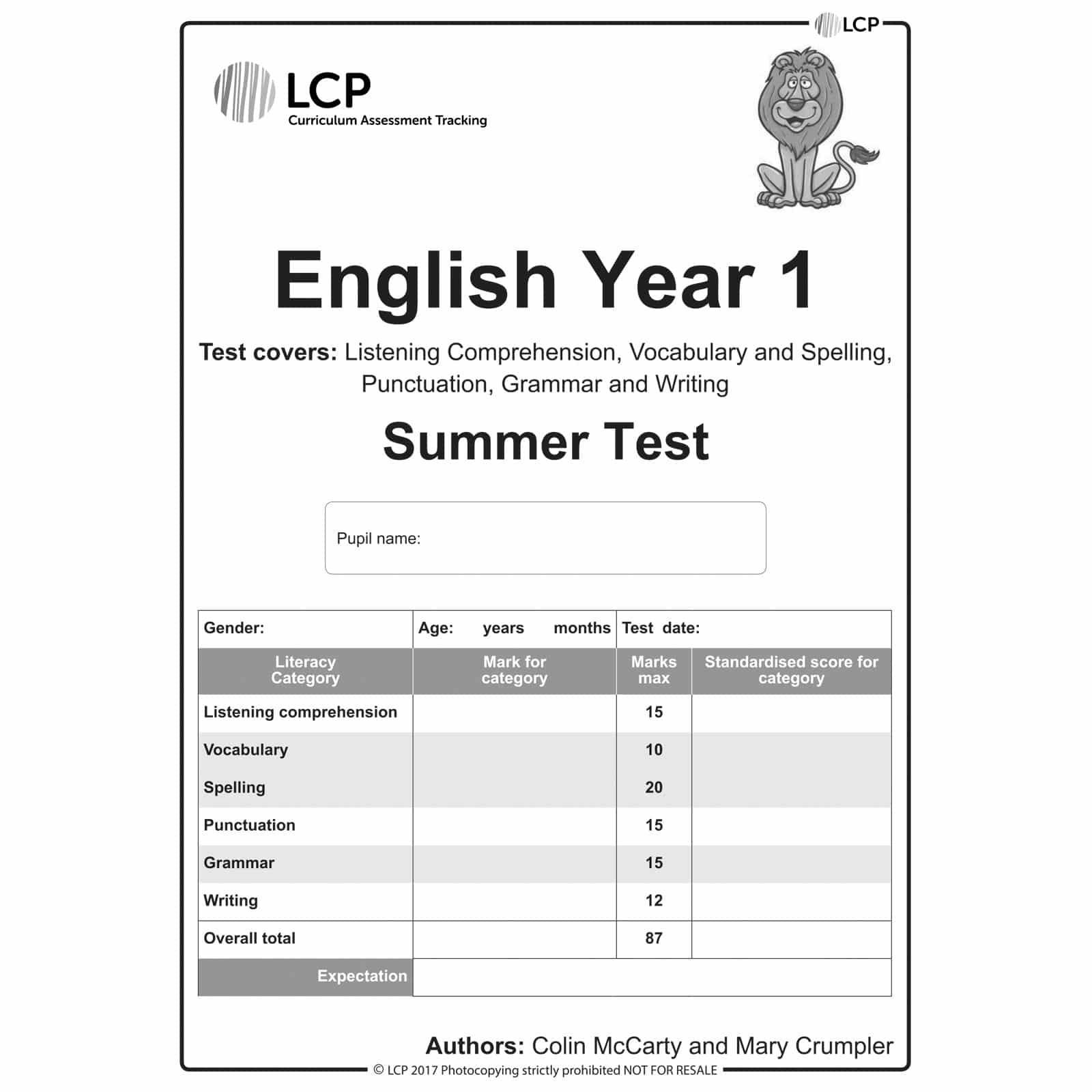 English Summer Year 1 Class Pack Of 30 Papers