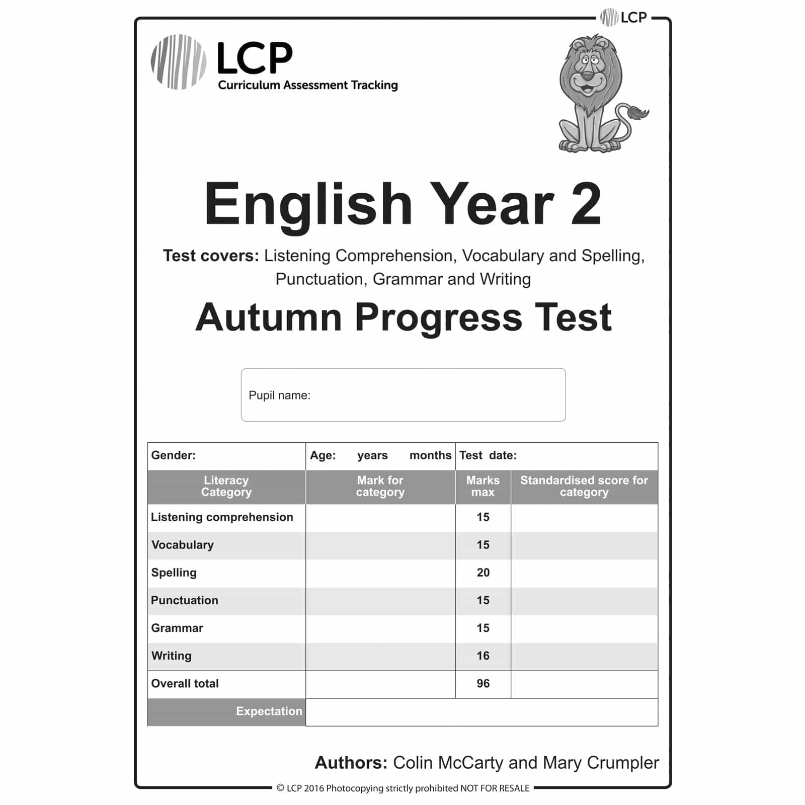 English Autumn Year 2 Class Pack Of 30 Papers