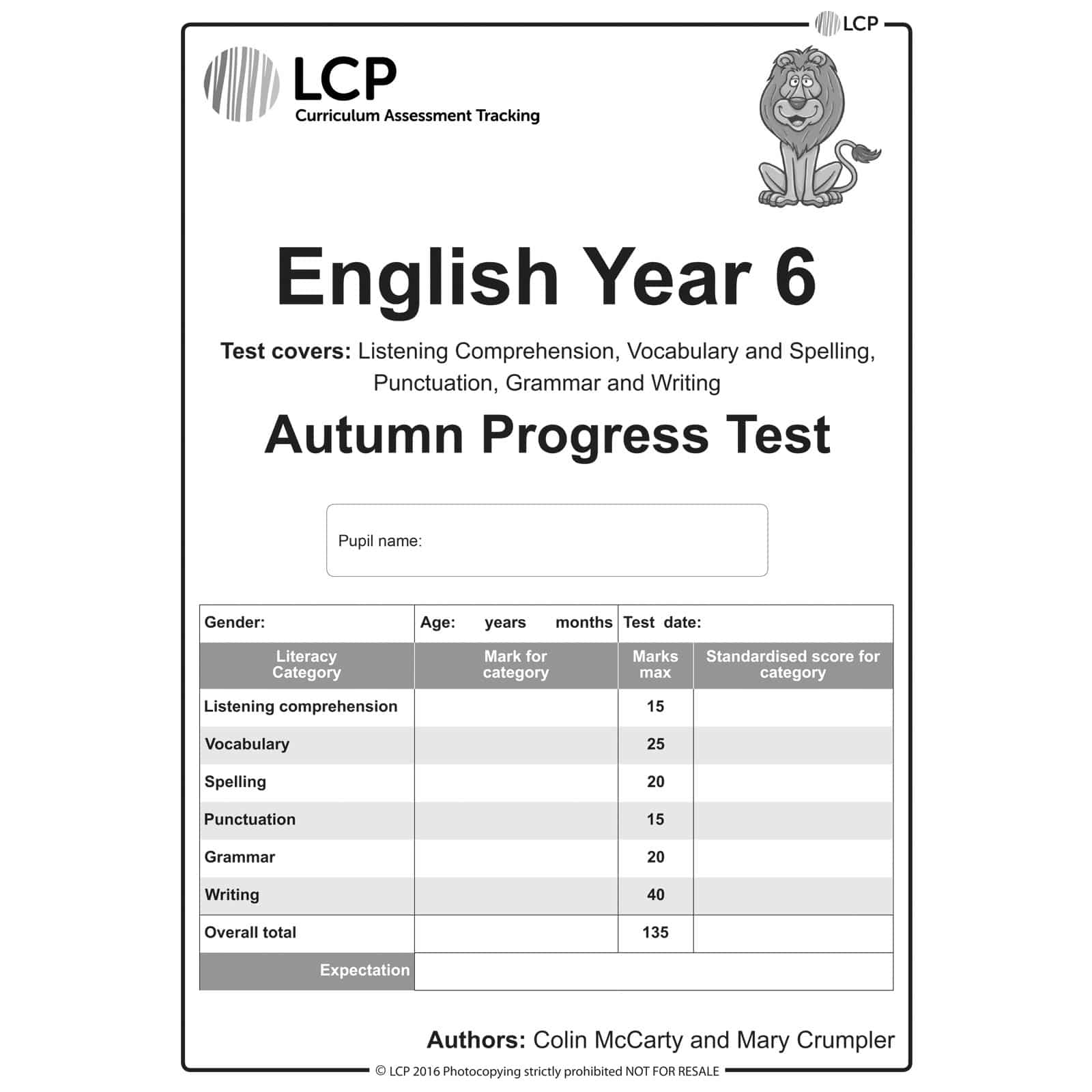 English Autumn Year 6 Class Pack Of 30 Papers