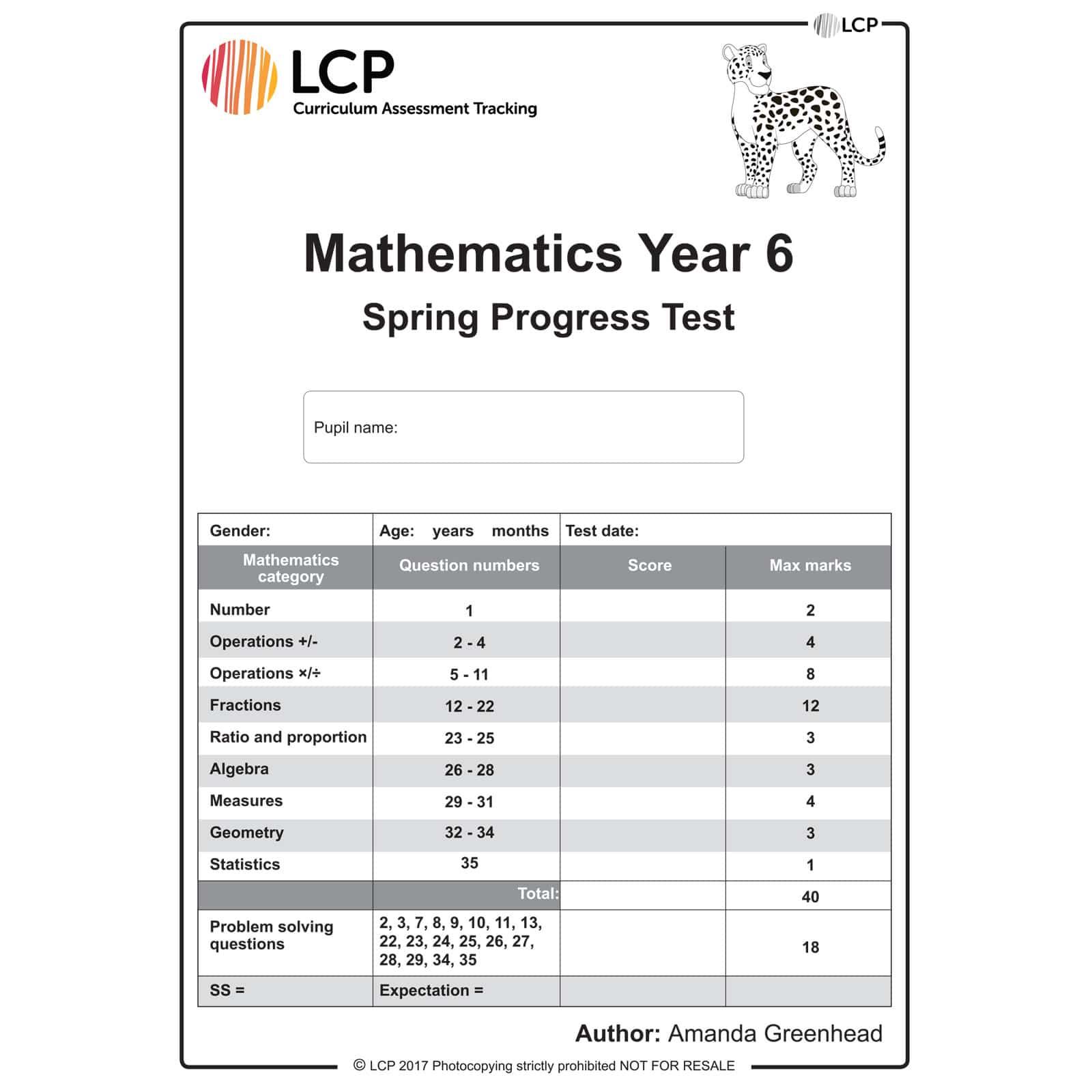 Maths Spring Year 6 Class Pack Of 30 Papers