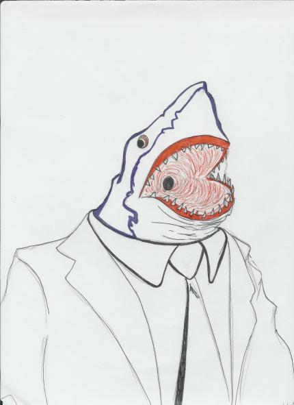 Jake's drawing Landshark