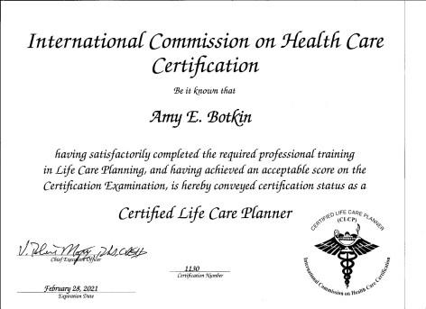 CLCP Certificate expires 2-28-21