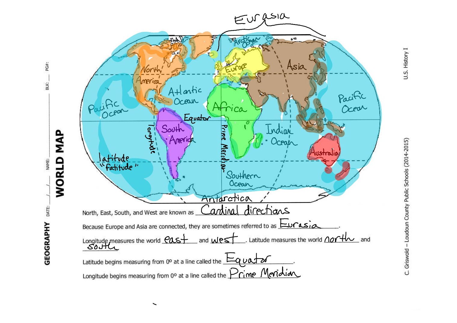 Continent Map With Equator Pictures To Pin