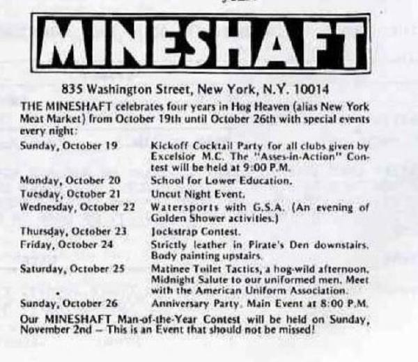 Mineshaft - Programme of the 4th birthday celebration