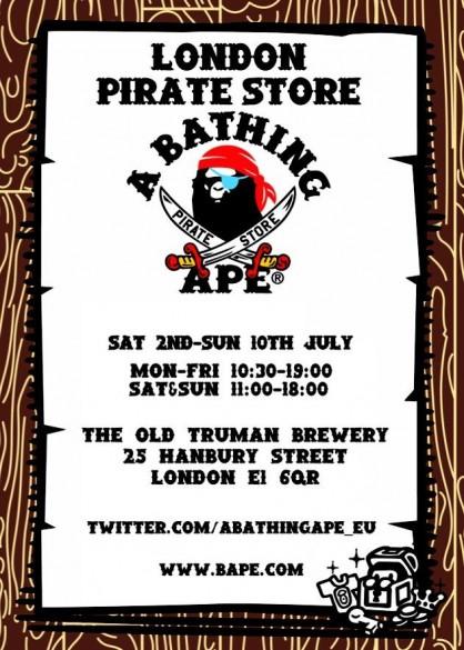 c115493b0b31 Sample Sale  A Bathing Ape Bape Pirate Store