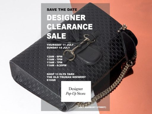 Designer Pop-Up Store – 11th – 14th July 2019