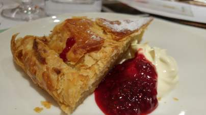 Almond Pithivier and Raspberry jam