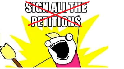 A petition to stop petitions about petitions that no one should petition about 14