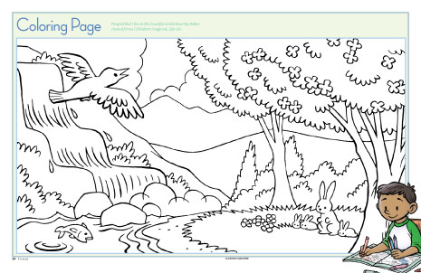 nature scene colouring pages