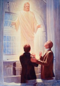 The Lord Appears in the Kirtland Temple, by Del Parson