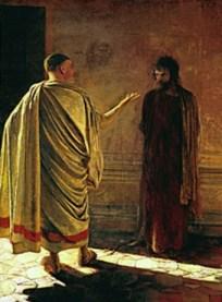 Hearing Before Pilate, by Nikolai Ge
