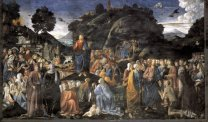 The Sermon on the Mount, by Cosimo Rosselli (1439 – 1507)