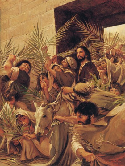 Triumphal Entry, by Walter Rane