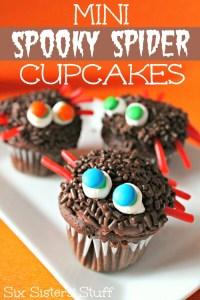 SpookySpiderCupcakes