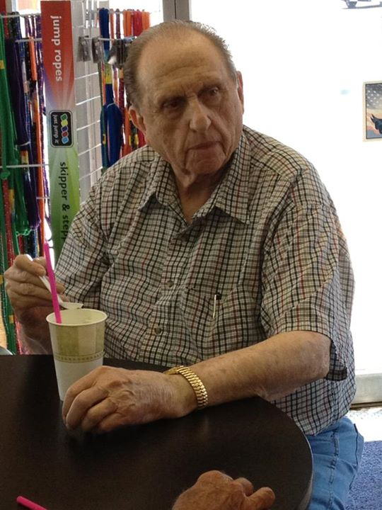President Monson sipping on Lime Freeze.