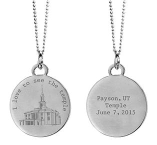 Silver I Love to See the Temple Necklace - Payson