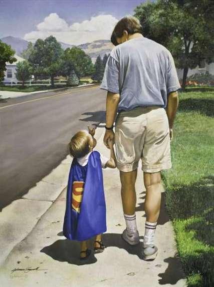 Even Superman Needs a Dad (Print)