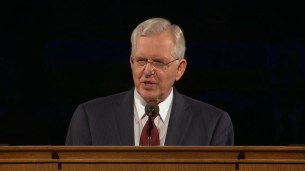 """Elder Christofferson served as a missionary under Elder and Sister Scott. He shared the humorous story of Elder Scott stopping at a winery to buy grape juice. In talking about Elder and Sister Scott, he said, """"That example of love has inspired thousands, if not millions."""""""