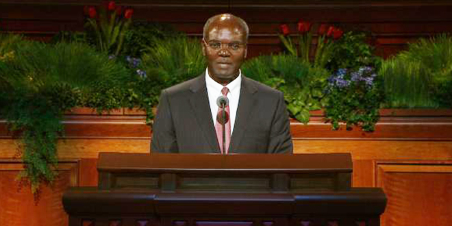 Elder Sitati Addresses Race, Self-Reliance and Church Growth in Africa