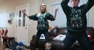 Ellie and Jared Share Ugly Christmas Sweater Dance Party for 12 Days of Social!