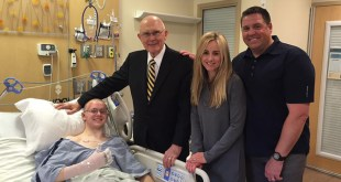 Elder Dallin H. Oaks Visits Injured LDS Missionary in Hospital