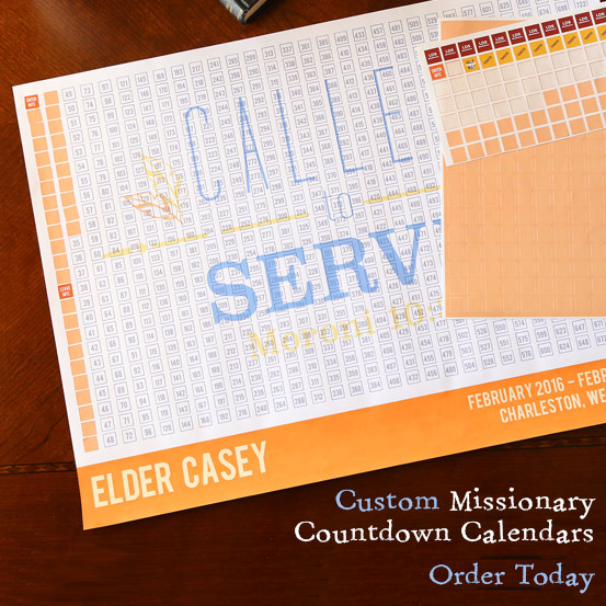 LDS Missionary Countdown Calendars