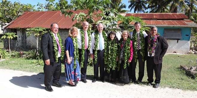 Elder Neil L. Andersen and other Church Leaders Visit Cook Islands