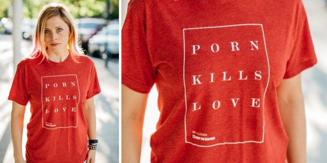 """LDS Drummer Elaine Bradley Says Why She Chose to Wear """"Porn Kills Love"""" Tee on Television"""