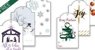 FREE Printable LDS Christmas Gift Tags