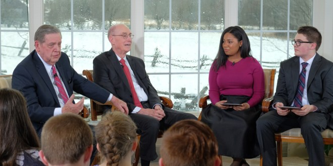 Mormon Youth Talk with Apostles at First Vision Site