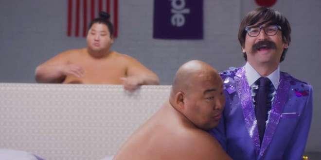 Studio C Star Jeremy Warner Joins Sumo Wrestlers for Purple Commercial