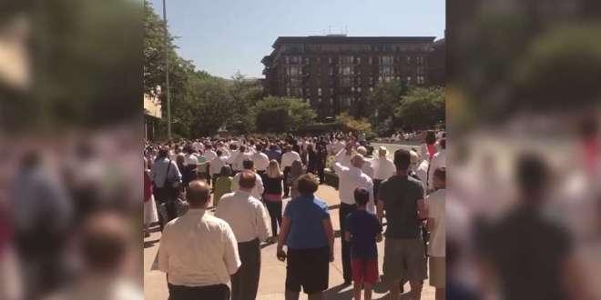 Watch a Crowd Sing President Monson Happy Birthday