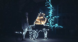 """The Piano Guys Use Half a Million Christmas Lights in """"I Saw Three Ships"""" Music Video"""