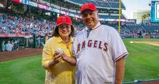 Elder Rasband Throws Ceremonial Pitch in Los Angeles